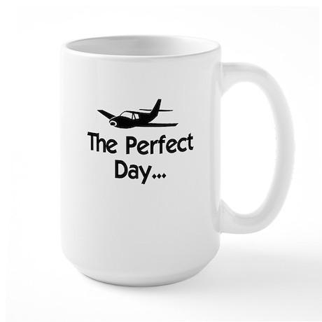 Perfect Day Airplane Large Mug