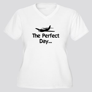 Perfect Day Airplane Women's Plus Size V-Neck T-Sh