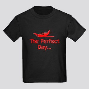 Perfect Day Airplane Kids Dark T-Shirt