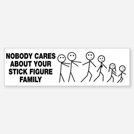 Anti Stick Figure Family Sticker (Bumper)