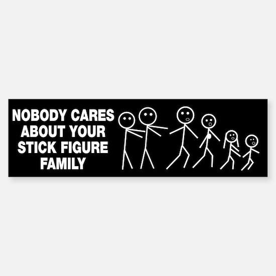 Anti Stick Figure Family Sticker (Bumper)