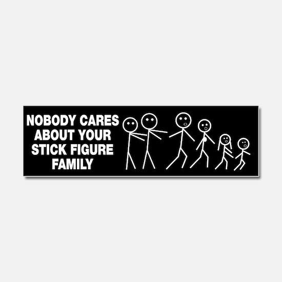 Anti Stick Figure Family Car Magnet 10 x 3