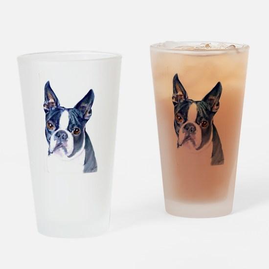 Funny Boston terrier Drinking Glass