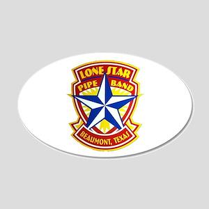 Lone Star Pipe Band logo 22x14 Oval Wall Peel