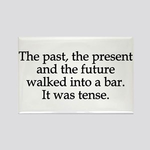 Past Present Future Tense Rectangle Magnet