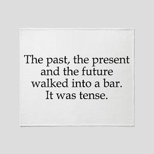 Past Present Future Tense Throw Blanket
