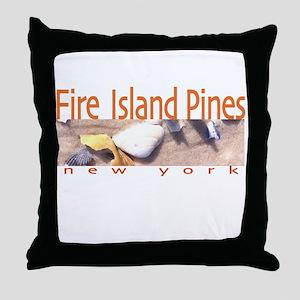 Beach Fire Island Pines Throw Pillow