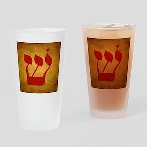 Hebrew Shin Drinking Glass