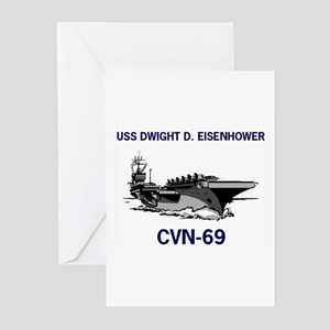 USS EISENHOWER Greeting Cards (Pk of 10)