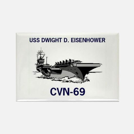 USS EISENHOWER Rectangle Magnet (10 pack)