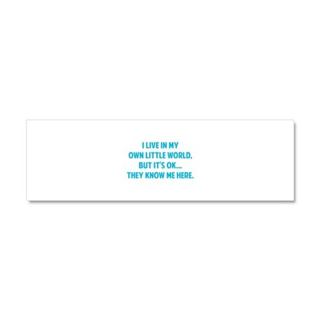They Know Me Here Car Magnet 10 x 3