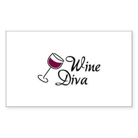 Wine Diva Sticker (Rectangle)