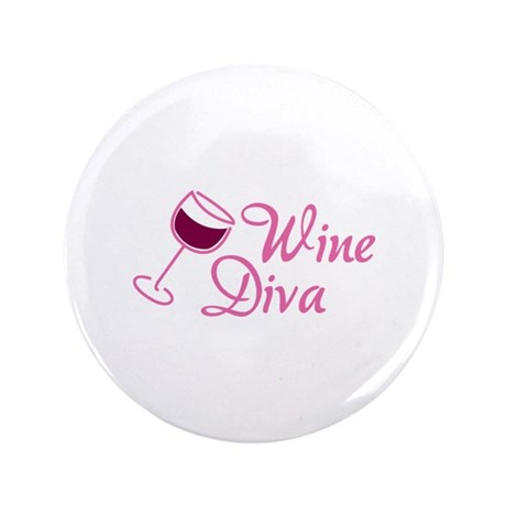 "Wine Diva 3.5"" Button (100 pack)"