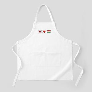 Peace, Love and Hungary Apron
