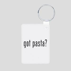 Got pasta? Aluminum Photo Keychain