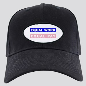Equal Work Equal Pay Black Cap
