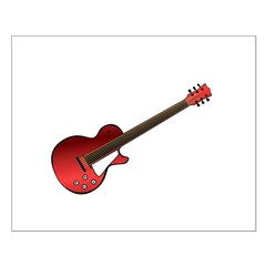 Red Electric Guitar Small Poster
