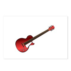 Red Electric Guitar Postcards (Package of 8)