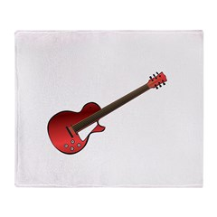 Red Electric Guitar Throw Blanket