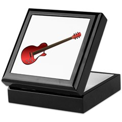 Red Electric Guitar Keepsake Box