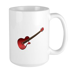 Red Electric Guitar Large Mug