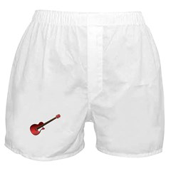 Red Electric Guitar Boxer Shorts