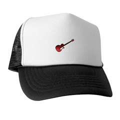 Red Electric Guitar Trucker Hat