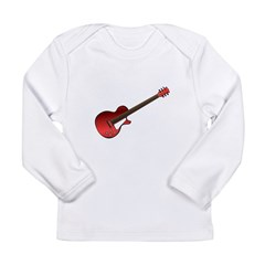 Red Electric Guitar Long Sleeve Infant T-Shirt