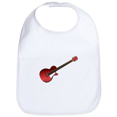 Red Electric Guitar Bib
