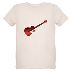 Red Electric Guitar Organic Kids T-Shirt