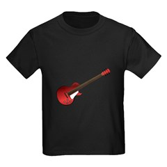 Red Electric Guitar Kids Dark T-Shirt