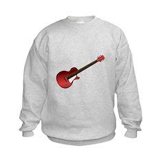 Red Electric Guitar Kids Sweatshirt