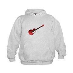 Red Electric Guitar Kids Hoodie