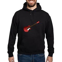Red Electric Guitar Hoodie (dark)