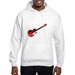 Red Electric Guitar Hooded Sweatshirt