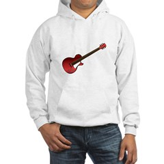 Red Electric Guitar Hooded Sweatshirt