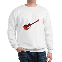 Red Electric Guitar Sweatshirt