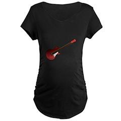 Red Electric Guitar Maternity Dark T-Shirt