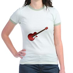 Red Electric Guitar Jr. Ringer T-Shirt