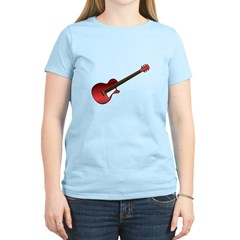Red Electric Guitar Women's Light T-Shirt