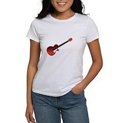Red Electric Guitar Women's T-Shirt