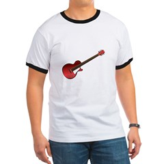 Red Electric Guitar Ringer T