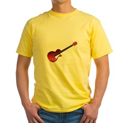 Red Electric Guitar Yellow T-Shirt