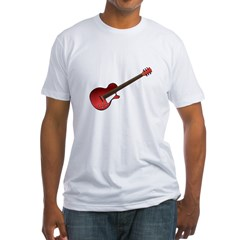 Red Electric Guitar Fitted T-Shirt