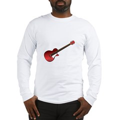 Red Electric Guitar Long Sleeve T-Shirt