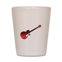Red Electric Guitar Shot Glass