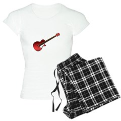 Red Electric Guitar Women's Light Pajamas