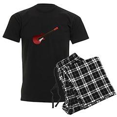 Red Electric Guitar Men's Dark Pajamas