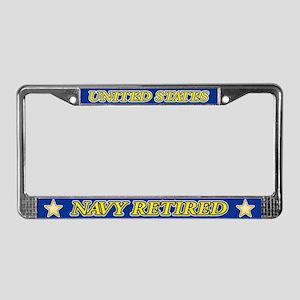 Us Navy Retired(read Descrptn) License Plate Frame