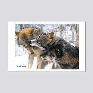 Wolf Timbers Pack Mini Poster Print